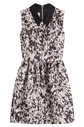 Mcq By Alexander Mcqueen Party Dress With Contrast Collar Multicolor