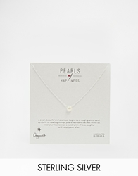 Dogeared Sterling Silver Bridal Pearls Of Happiness Necklace