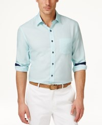 Tasso Elba Men's Core Heather Diamond Long Sleeve Shirt Only At Macy's Bathwater Combo