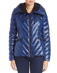 Vince Camuto Quilted Puffer Jacket Midnight Blue