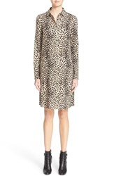 Akris Women's Cheetah Print Wool Mousseline Shirtdress