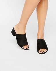 Truffle Collection Mid Heel Mules Black