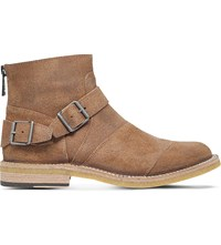 Belstaff Trialmaster Suede Crepe Ankle Boots Beige
