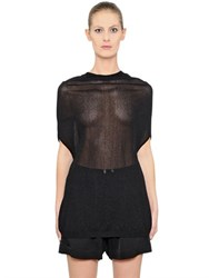 Rick Owens Sheer Viscose Crater Knit Sweater