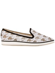 Nicholas Kirkwood 'Alona Houndstooth' Loafers White