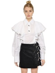 Kenzo Ruffled Cotton Poplin Shirt