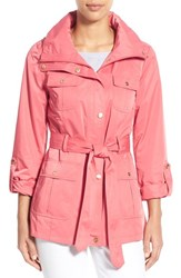 Women's Ellen Tracy Techno Short Trench Coat
