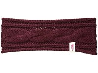 The North Face Cable Eargear Deep Garnet Red Headband Brown