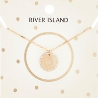 River Island Womens Gold Tone G Initial Necklace