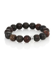 Nest Ebony Wood Logo Beaded Stretch Bracelet