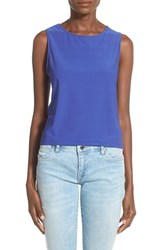 Women's Leith Side Strap Tank Blue Clematis