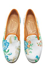Stubbs And Wootton M'o Exclusive Valencia Sterling Slipper Silver