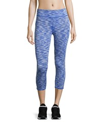 Marc New York Marc Ny Performance Space Dye Cropped Leggings Royal Blue