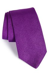 Gitman Brothers Vintage Men's Solid Silk Tie Purple