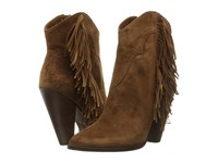 Frye Remy Fringe Short Wood Suede Women's Boots Tan