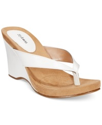 Style And Co. Chicklet Sandals Women's Shoes White