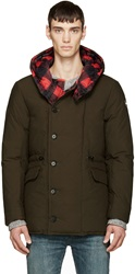 Colmar Red Check And Green Reversible Coat