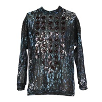 Joana Almagro Knitted Camouflage Sweater Blue