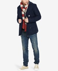 Denim And Supply Ralph Lauren Men's Melton Peacoat Black