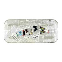 Fornasetti Ultime Notizie Tray 25X60cm