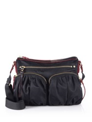 M Z Wallace Paige Nylon Crossbody Bag Black