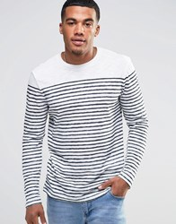 New Look Long Sleeve Top With Stripes White