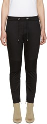 Balmain Black Twill Jogger Lounge Pants
