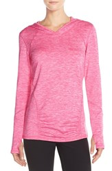 Women's Zella 'First Track' Hooded Pullover Pink Azalea