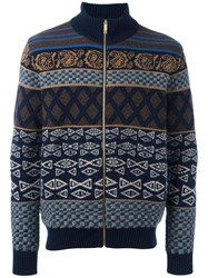 Etro Zipped Cardigan Multicolour