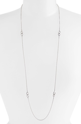 Lagos 'Soiree' Long Station Necklace Silver