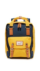 Doughnut Macaroon Backpack Navy Mustard