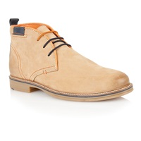 Lotus Holbeton Lace Up Casual Desert Boots Natural