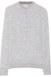 Michael Kors Collection Cashmere Top Light Gray