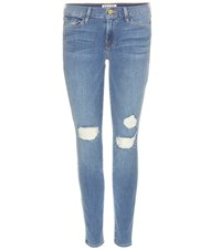 Frame Cropped Skinny Jeans Blue
