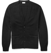 Saint Laurent Slim Fit Fine Knit Cashmere Cardigan Black
