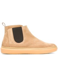 Leather Crown Chelsea Boots Nude Neutrals