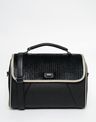 Pauls Boutique Paige Across Body Bag In Faux Pony Hair Blackwchampagne