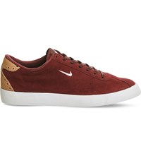 Nike Match Classic Suede Trainers Night Maroon White