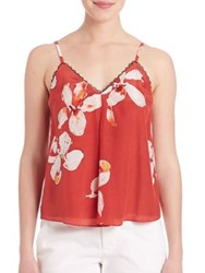 Alice Olivia Carlene Inverted Pleat Tank Top Summer Lily