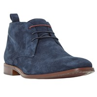 Dune Murray Suede Formal Chukka Boots Navy