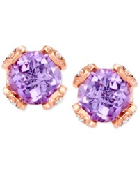 Le Vian Chocolatier Pink Amethyst 3 5 8 Ct. T.W. And Diamond 1 5 Ct. T.W. Stud Earrings In 14K Rose Gold