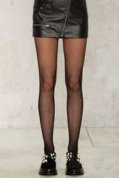 Diamond In The Rough Fishnet Tights Black