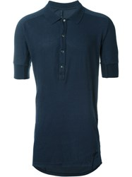 11 By Boris Bidjan Saberi Long Polo Shirt Blue