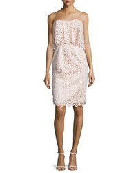 Black Halo Strapless Popover Lace Cocktail Dress Ballet Pink Women's