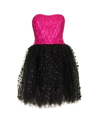 Loyd Ford Lace And Tulle Strapless Dress