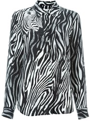 Equipment Zebra Print Shirt Black