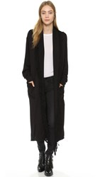 Riller And Fount Sage Oversized Fringe Cardigan Black French Terry