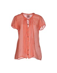 40Weft Shirts Blouses Women Coral