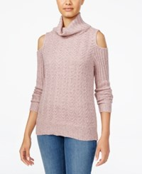 American Rag Juniors' Cold Shoulder Turtleneck Sweater Only At Macy's Pale Mauve