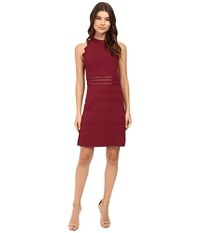 Ted Baker Natleah Scallop Detailed Dress Oxblood Women's Dress Red